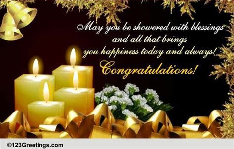 Shower Your Blessings  Free Congratulations eCards