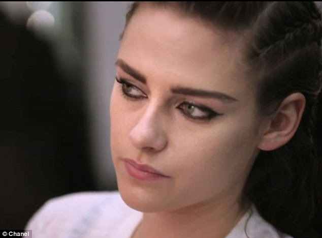Feline: Kristen's lined eyes looked stunning after her Chanel makeover