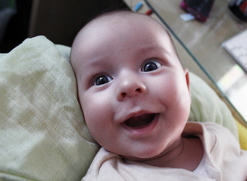 Elliot, the happiest baby on the planet. :D