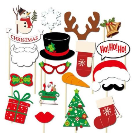 Christmas Fun Photo Booth Props Or Table Fun On Wooden Sticks 19