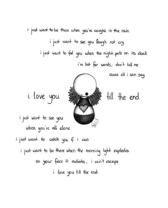 Love Quotes I Love You Till The End Quotespicturescom