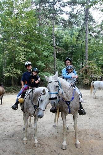 All of us on horseback