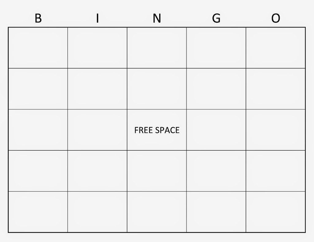 Blank Bingo Cards For Kindergarten – 2017 Calendar