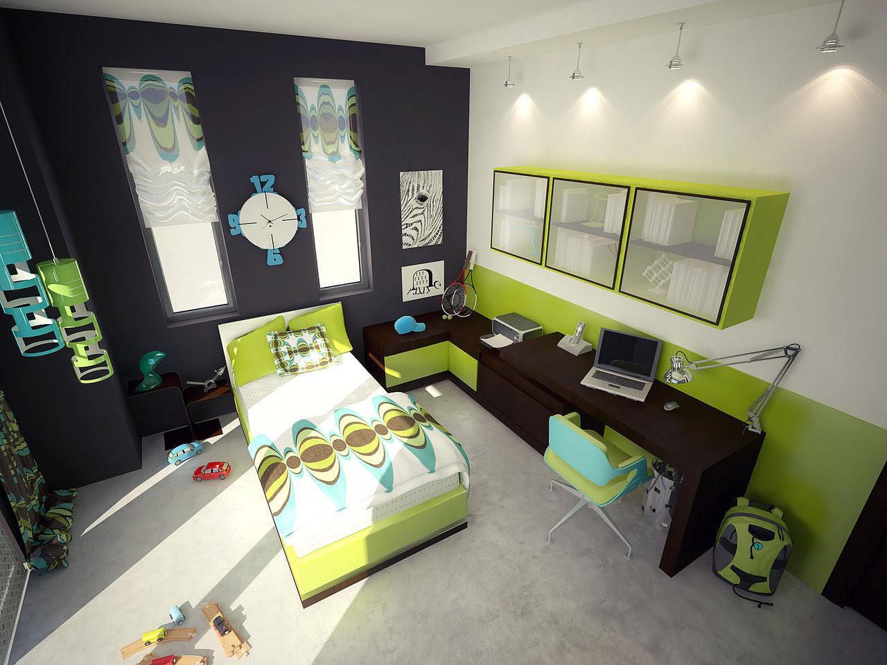 Green Color Bedrooms | Interior & Architecture Design