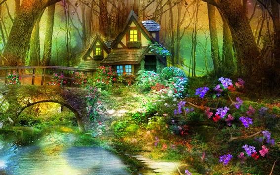 Vendita quadro il bosco incantato alessandro sacchetti