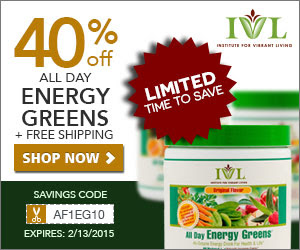 All Day Energy Greens 25% OFF 300X250