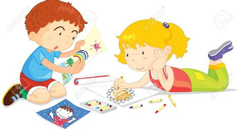 children drawing clipart clipground