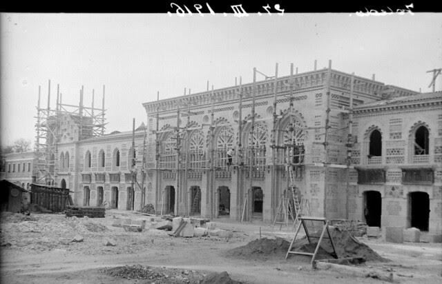 Estación de Ferrocarril de Toledo el 27 de diciembre de 1916 © Archivo Histórico Ferroviario del Museo del Ferrocarril de Madrid. Fotografía de F. Salgado. Signatura 0445-IF MZA 0-2