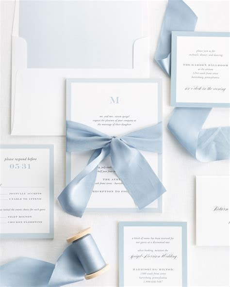 Upscale Monogram Ribbon Wedding Invitations   Ribbon