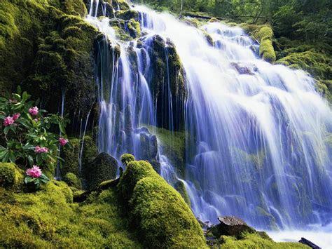 waterfall nature wallpaper   wallpaperscom