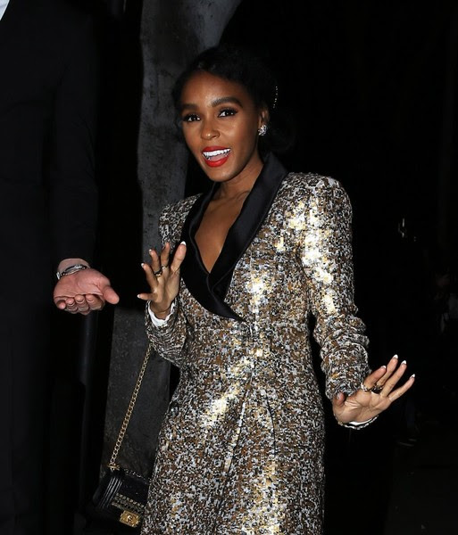 Janelle Monae Goes To Madeo Restaurant
