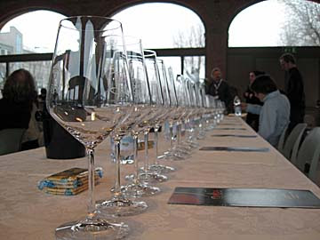 [row of glasses]
