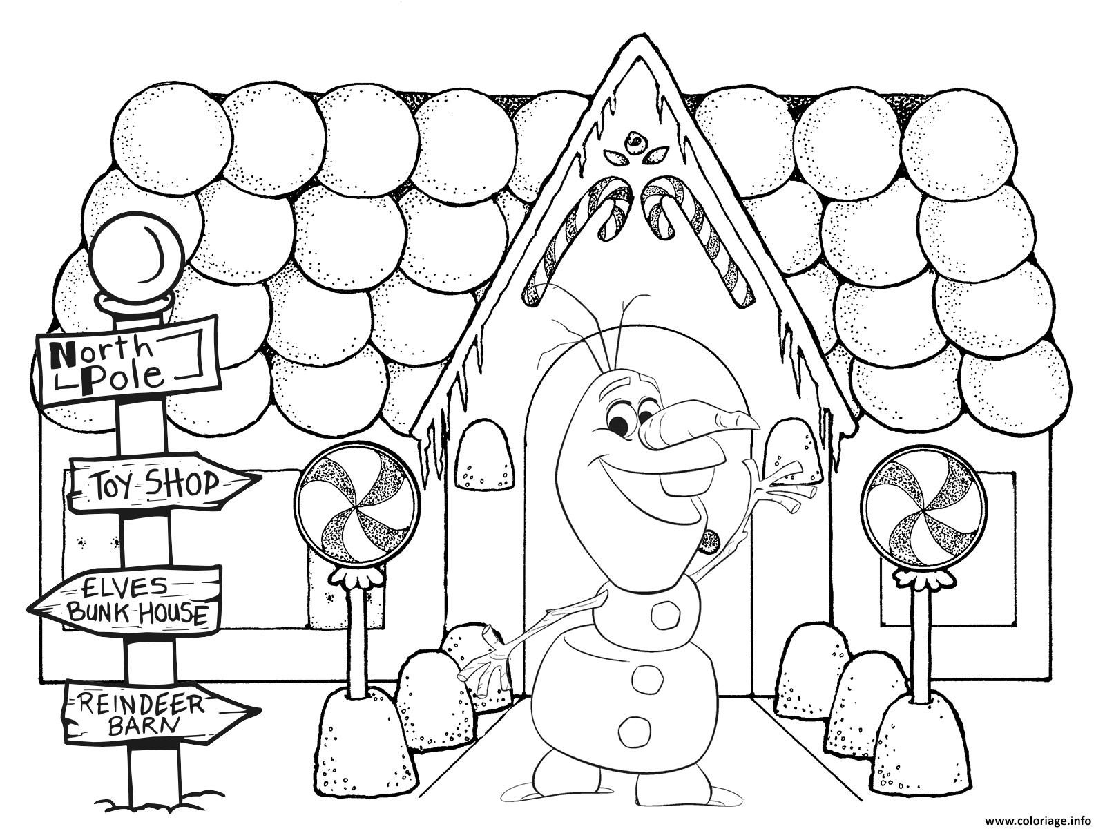 Coloriage Olaf à Imprimer