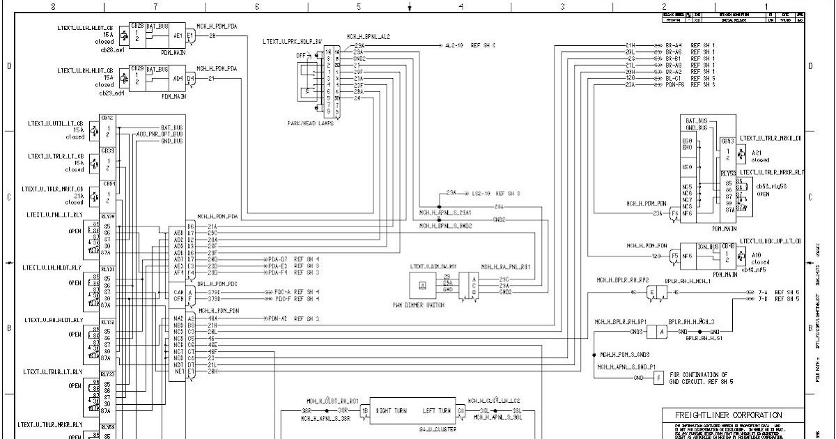 98 Freightliner Fuse Diagram