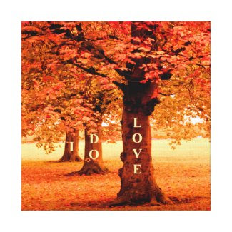 I DO LOVE Fall Gallery Wrap Canvas