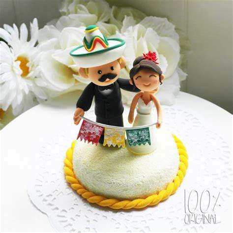 Custom Wedding Cake Topper Mexican Fiesta Theme   Wedding