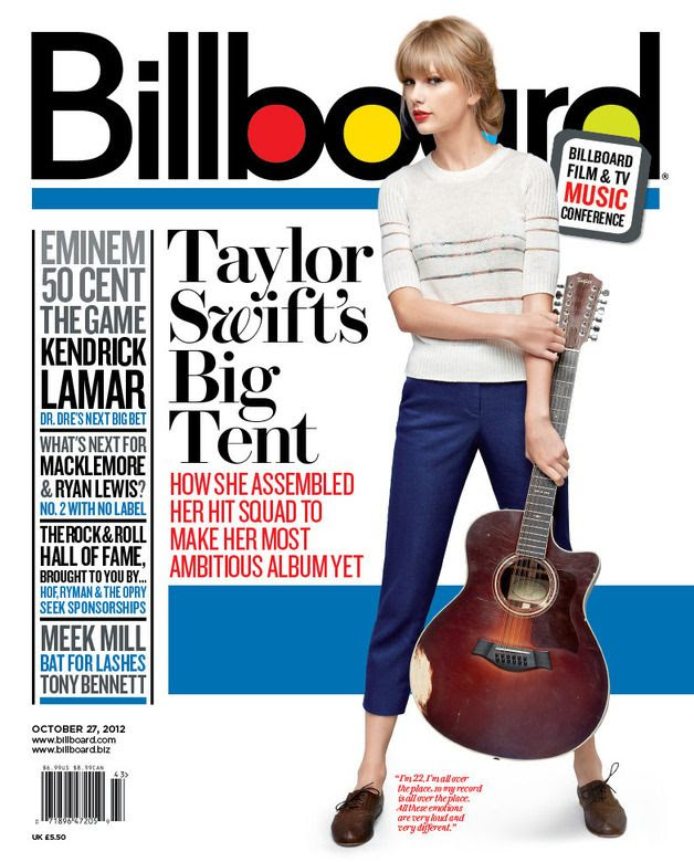 Billboard (October 27, 2012), Taylor Swift