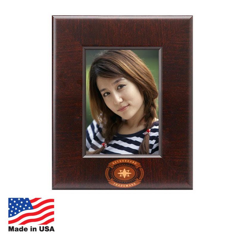 Custom Photo Frames Made In Usa 5x7 Mahogany Us582