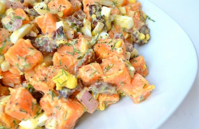 Bacon, Egg, & Sweet Potato Salad