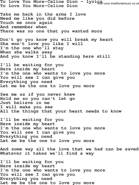 I Love To Love I Love To Love You Lyrics