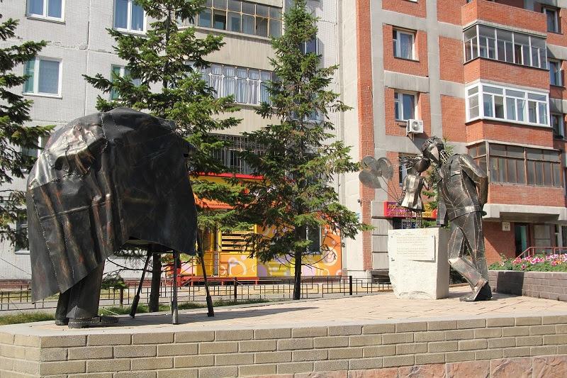 Скульптура Фото на память в Новосибирске. Фото