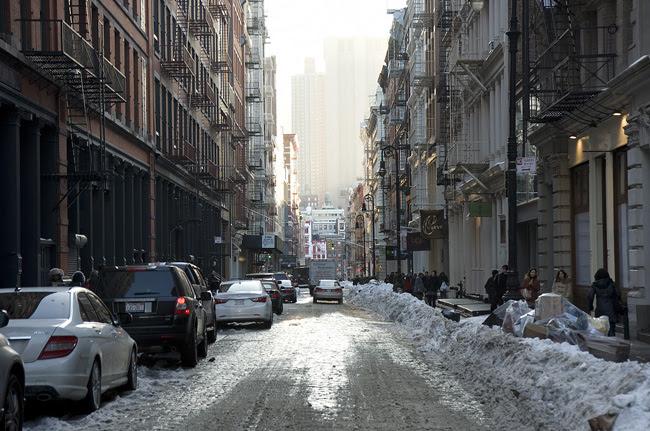 Soho under snow