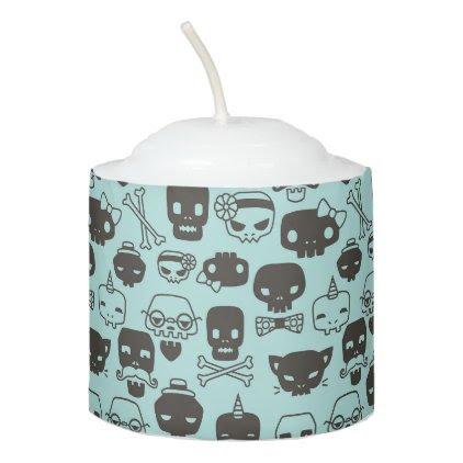Personality Skull Pattern Votive - Mint Votive Candle