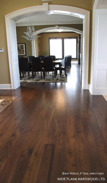 Dark Wide Plank Wood Floors Home Design Inside