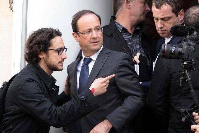 Unangenehm: Thomas Hollande (links) echauffiert sich über Valérie Trierweiler, die Partnerin seines Vaters. (Archivbild)