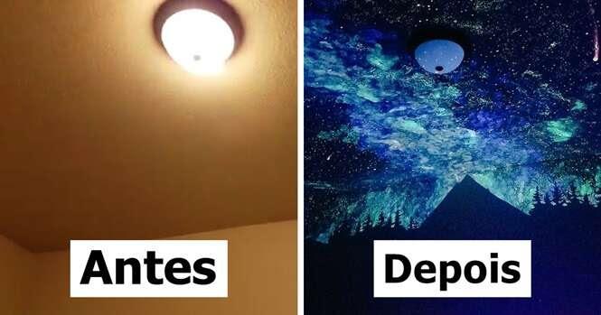 Mulher cria pintura no quarto de menino que não conseguia dormir e esta é a reação dele
