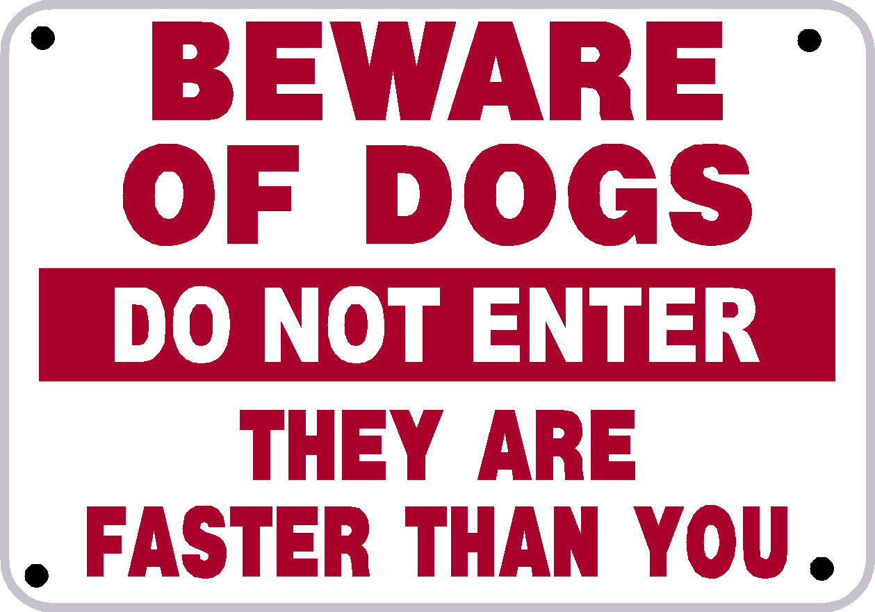 Limpertinence Funny Beware Of Dog Signs 24 Widescreen Wallpaper