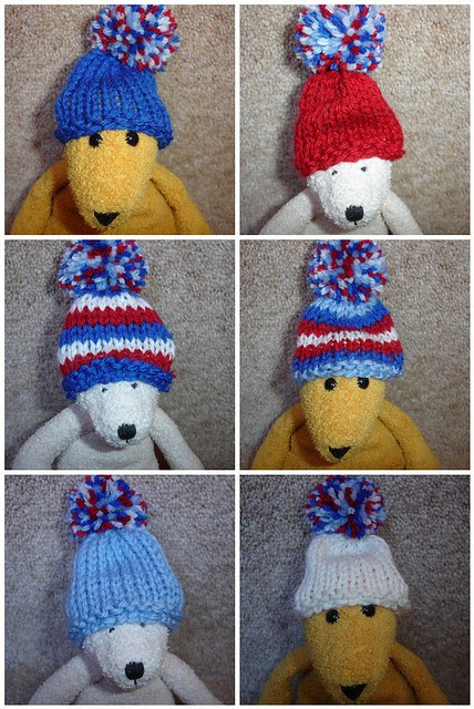 Smoothie hats of week 21-26 (the red, white and blue collection)