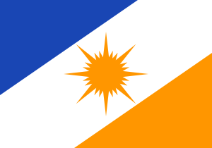 Flag of the State of Tocantins, Brazil.