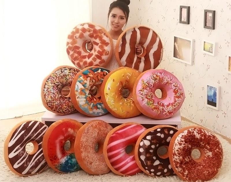 Kopen goedkoop grappige chocolade donut kussen kerstmis donuts