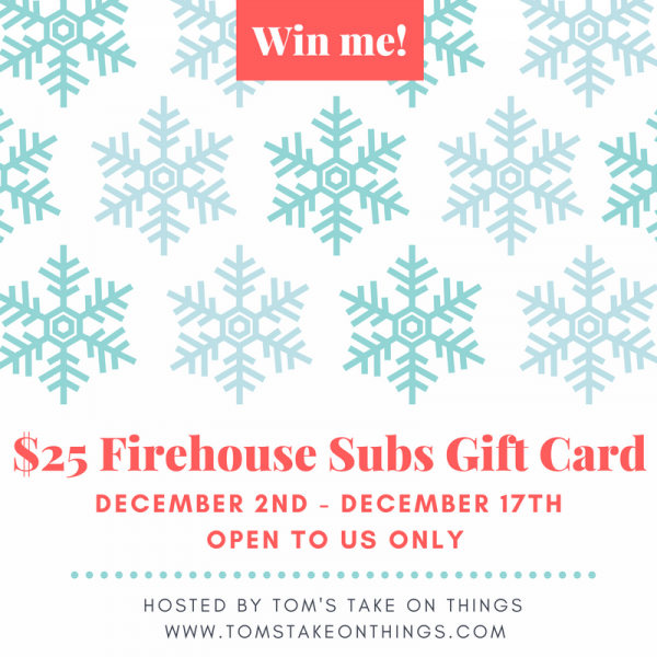 Warm up for the Holidays with Firehouse Subs ~ $25 Gift Card Giveaway