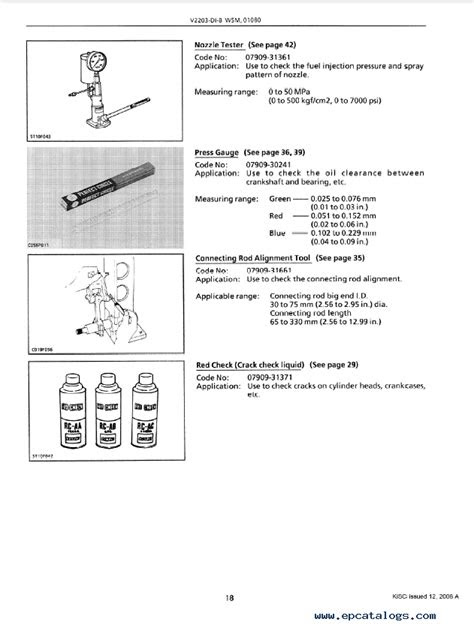 Kubota V2203-DI-B Diesel Engine Workshop Manual PDF