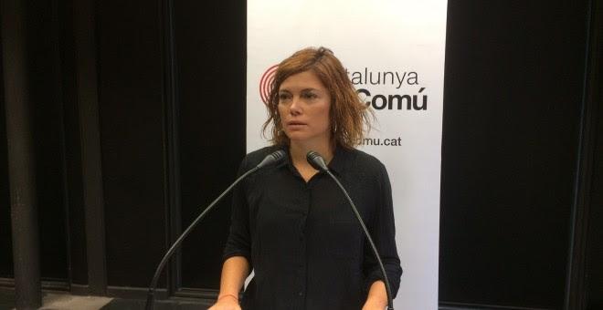 La coordinadora de comunicación de Catalunya en Comú, Elisenda Alamany. E.P.