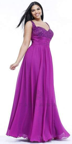 Ladies purple evening dresses