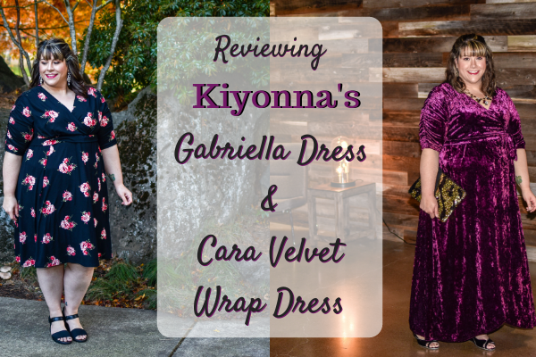 Reviewing Kiyonna's Gabriella Dress + Cara Velvet Wrap Dress