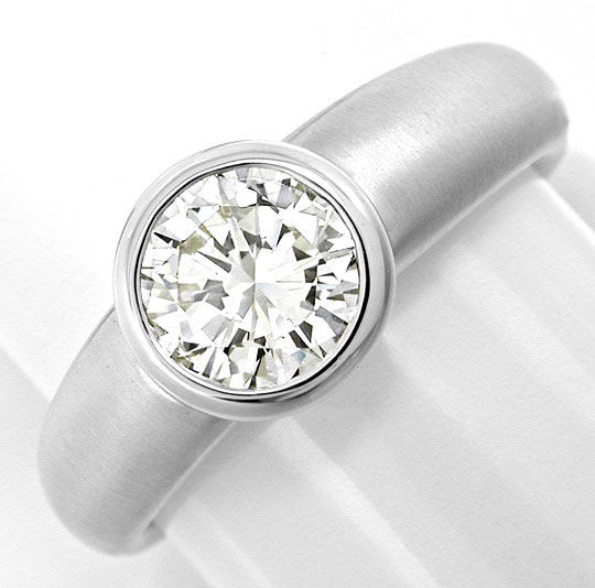 Original-Foto 2, BRILLANT-SOLITÄR-RING 0,93CT LUPRENREIN 18K SCHMUCK NEU