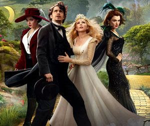 Mila Kunis, James Franco, Michelle Williams and Rachel Weisz star in OZ: THE GREAT AND POWERFUL.