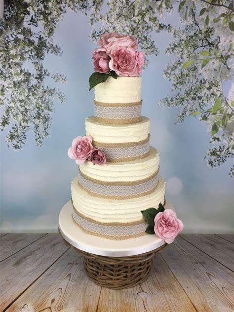 Rustic buttercream wedding cake   Mel's Amazing Cakes
