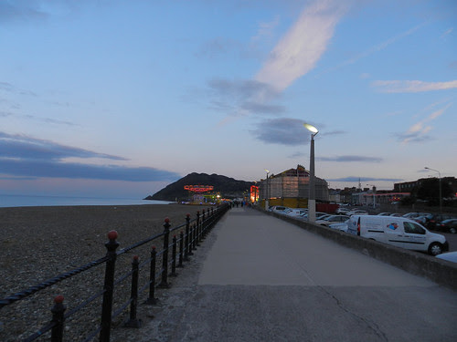 Saturday evening on Bray Seafront, between the gigs
