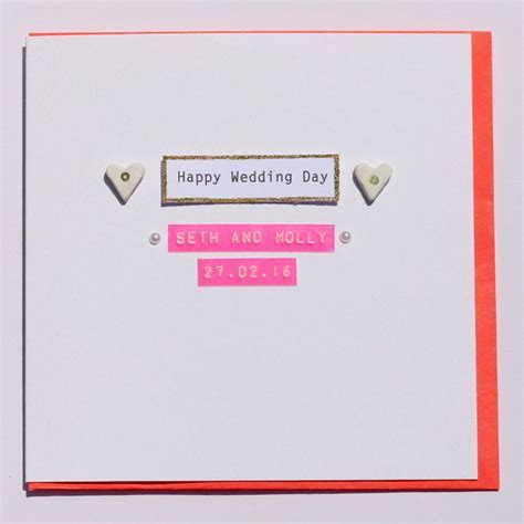 happy wedding day card by buttongirl designs