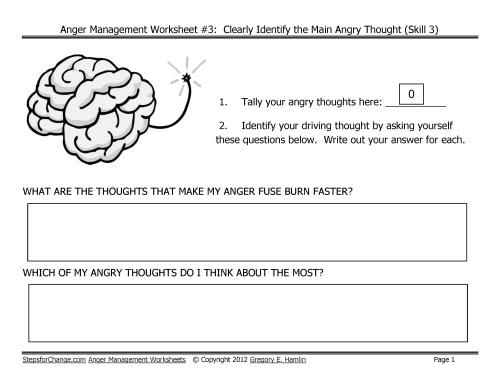 14 Best Images of Depression Worksheets For Teens - Anger ...