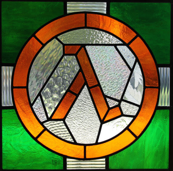 nerderypublic:  Half Life stained glass? Yes. Please.