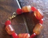 Amber Lights Amber and Agate Beaded bracelet