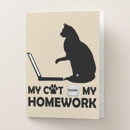 My cat deleted my homework pocket folder