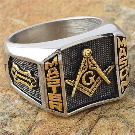 Blue Lodge 3rd Degree Men Masonic Ring Square G Master