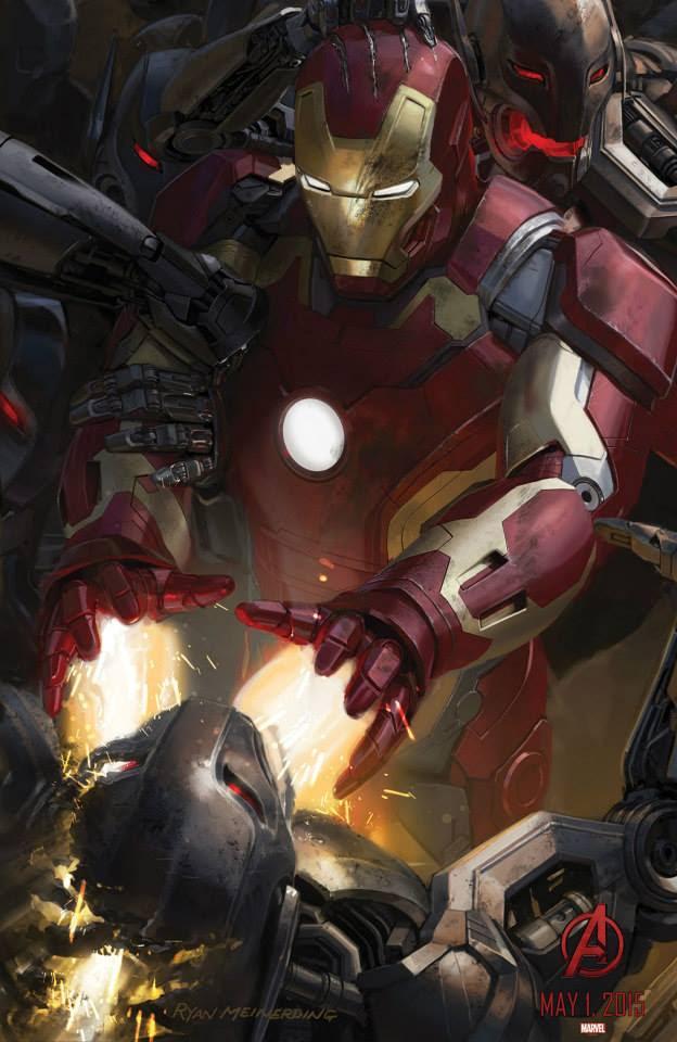 "Iron Man en el Poster de ""Los Vengadores : La Era de Ultron"""